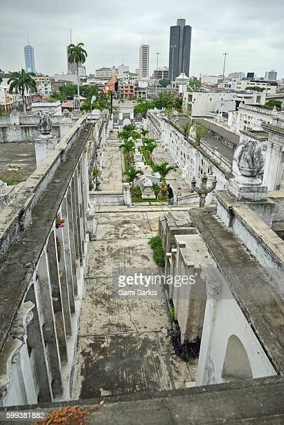 Graveyard at La Ciudad Blanca or White City cemetery, Guayaquil, Ecuador, South America