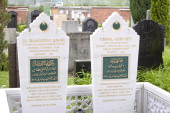 Graveyard of the Turkish Sehitlik mosque in the district Neukoelln on May 27 2013 in Berlin Germany