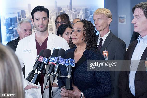 MED 'Graveyard Shift' Episode 211 Pictured Colin Donnell as Connor Rhodes S Epatha Merkerson as Sharon Goodwin