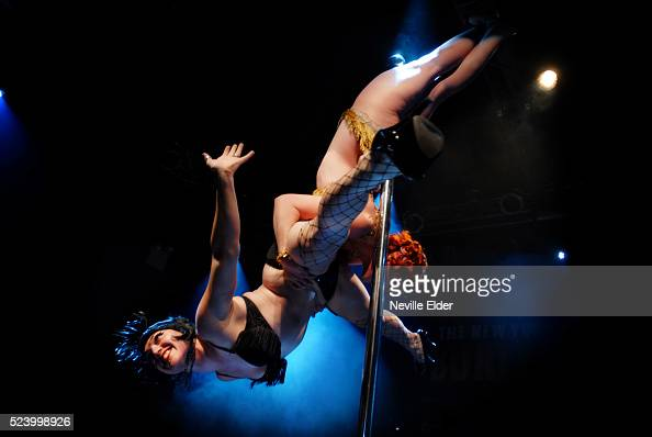 Gravity Plays Favorites from St Louis mix acrobatics with pole dancingThe 5th Annual New York Burlesque Festival at the Highline Ballroom New York...