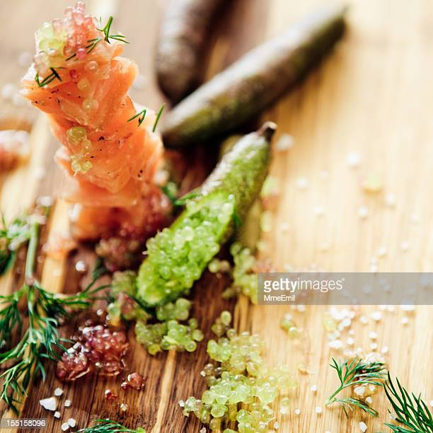 Gravlax And Lemon Caviar