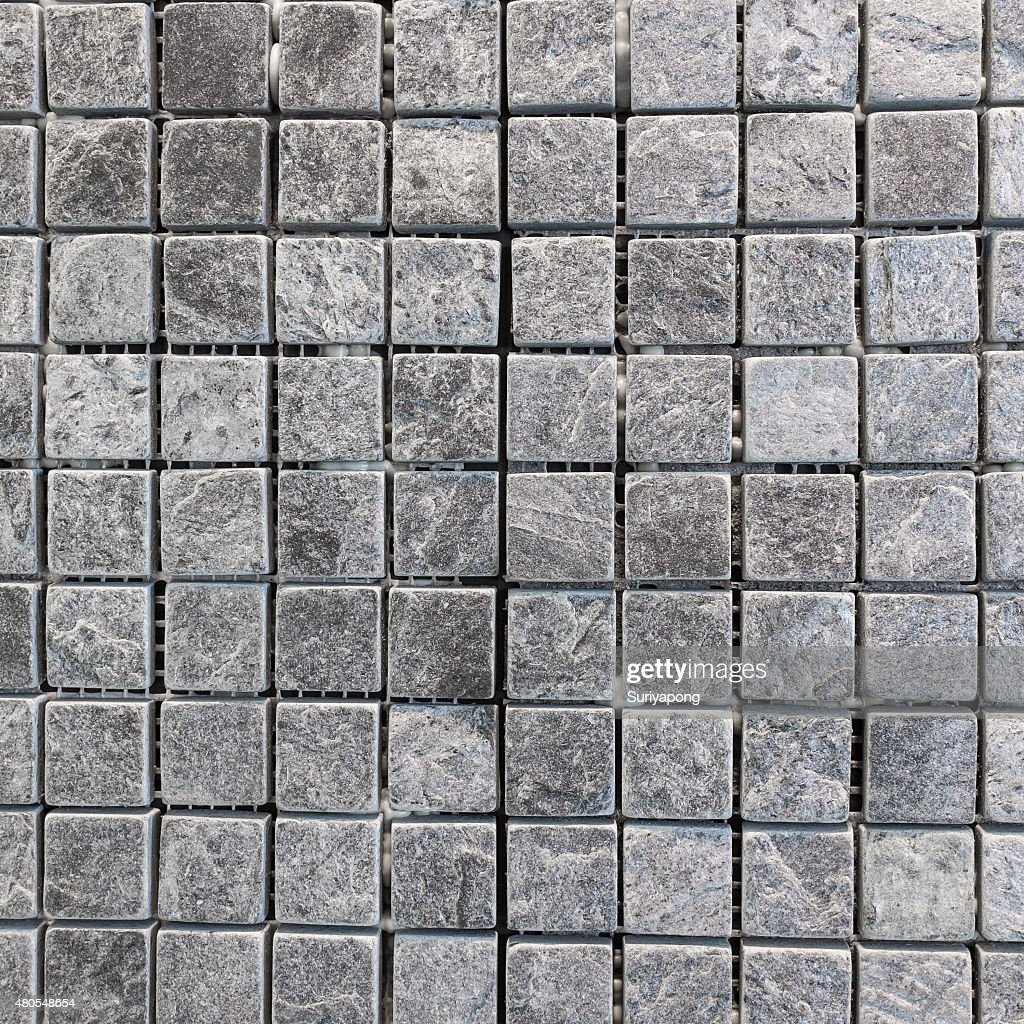 Gray and black tile on the wall texture and backgroud. : Stock Photo