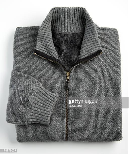 Gray Cashmere Sweater on a White Background