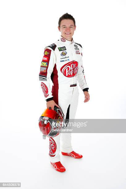 Gray Gaulding driver of the Toyota Camry poses for a portrait at Daytona International Speedway on February 23 2017 in Daytona Beach Florida