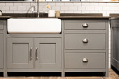 Grey Gray Luxury Bespoke Kitchen Sink