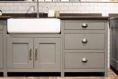 Grey Gray Luxury Bespoke Kitchen Sink