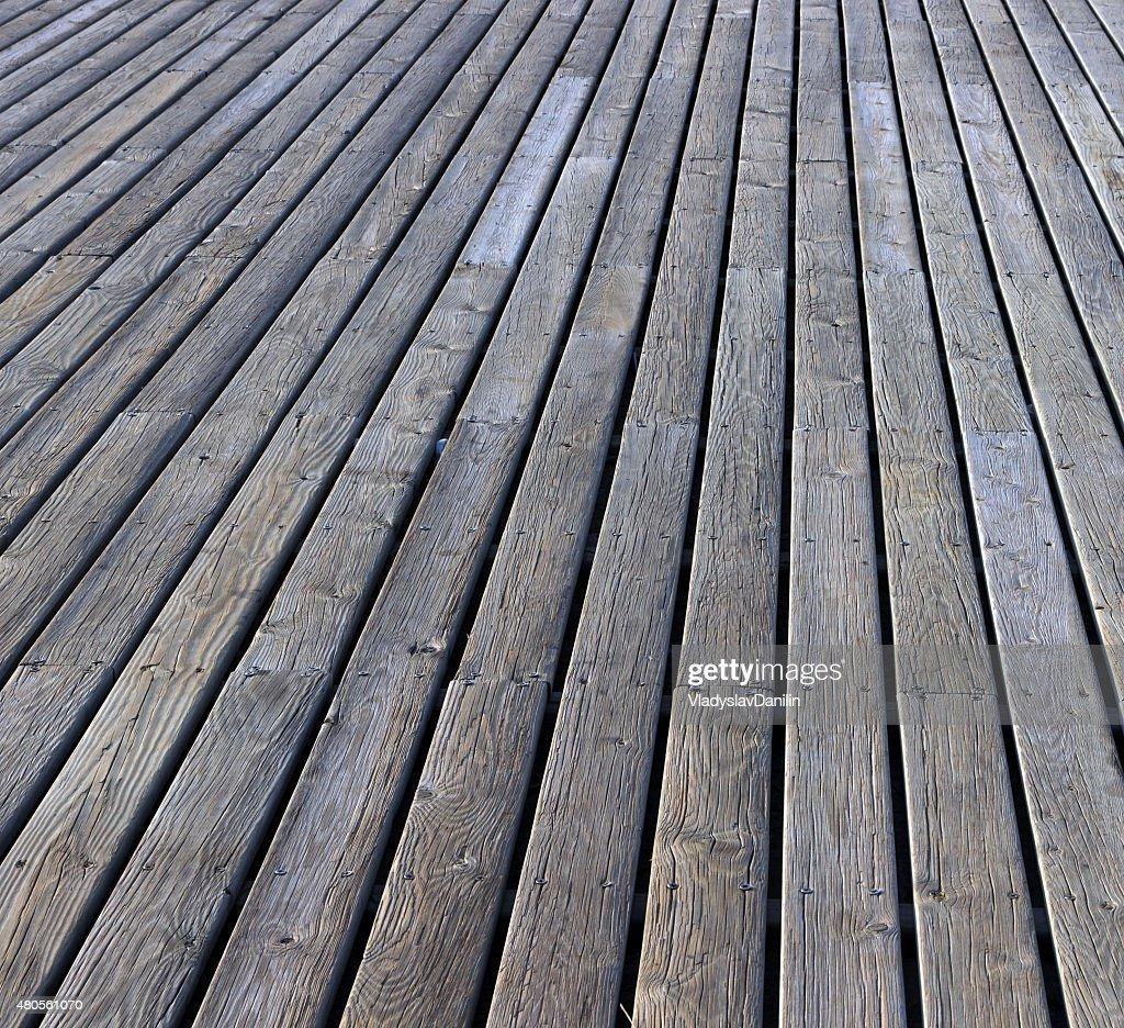 gray plank wooden floor : Stock Photo