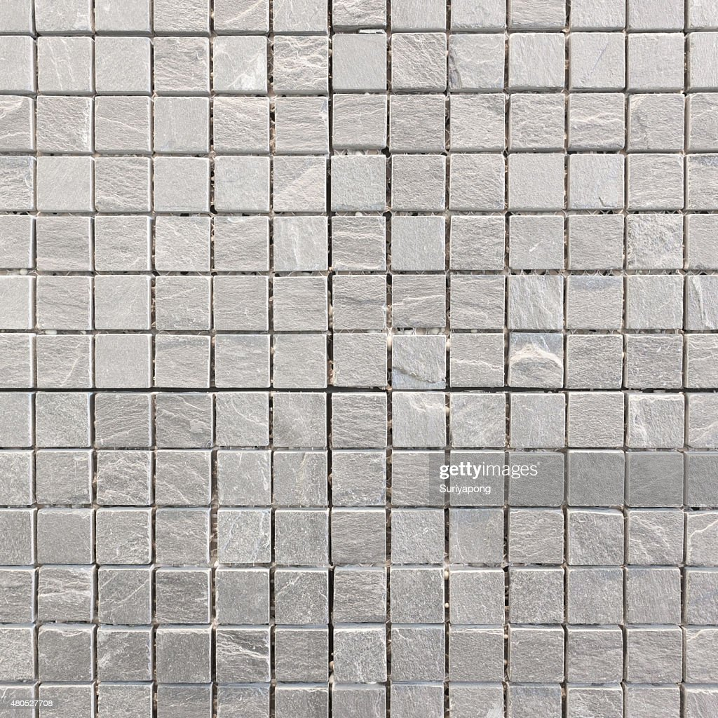 Carreaux gris sur le mur de la texture et du backgroud. : Photo