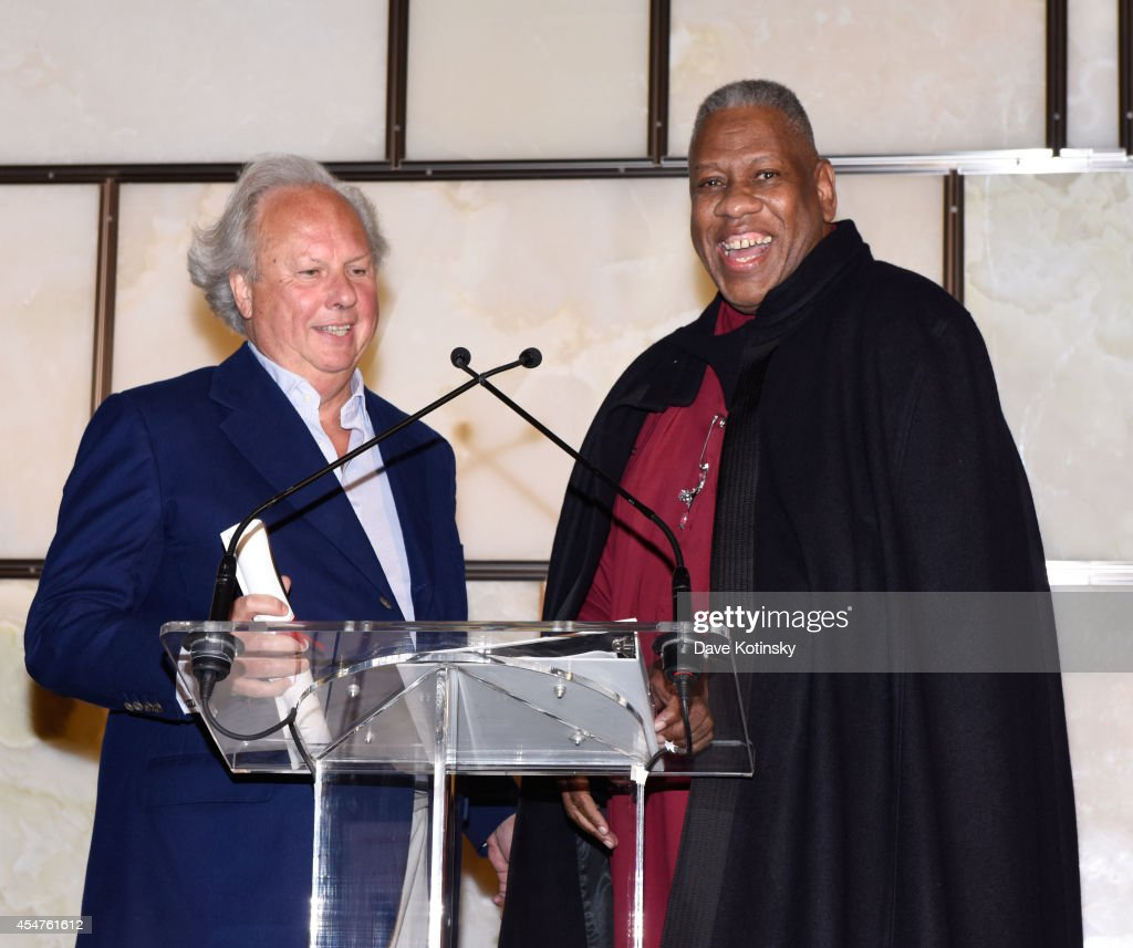 Graydon Carter and Andre Leon Talley speak at The Daily Front Row Second Annual Fashion Media Awards at Park Hyatt New York on September 5 2014 in...