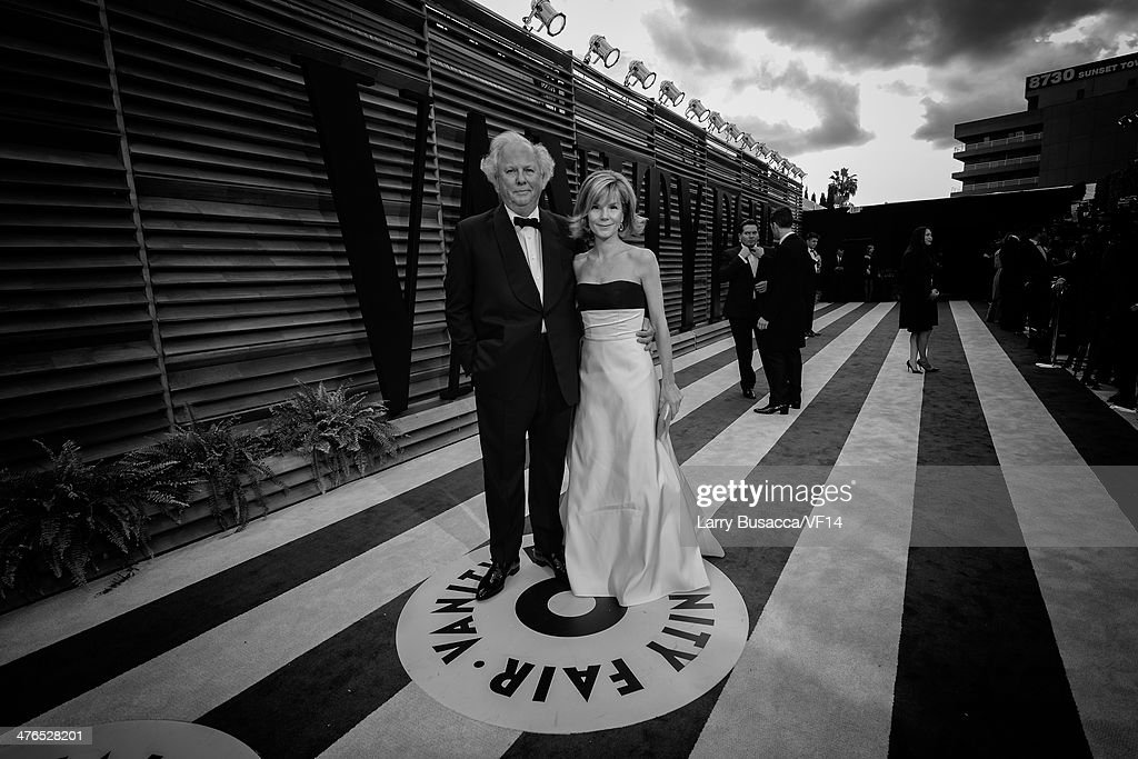 Graydon Carter and Anna Scott Carter attends the 2014 Vanity Fair Oscar Party Hosted By Graydon Carter on March 2 2014 in West Hollywood California