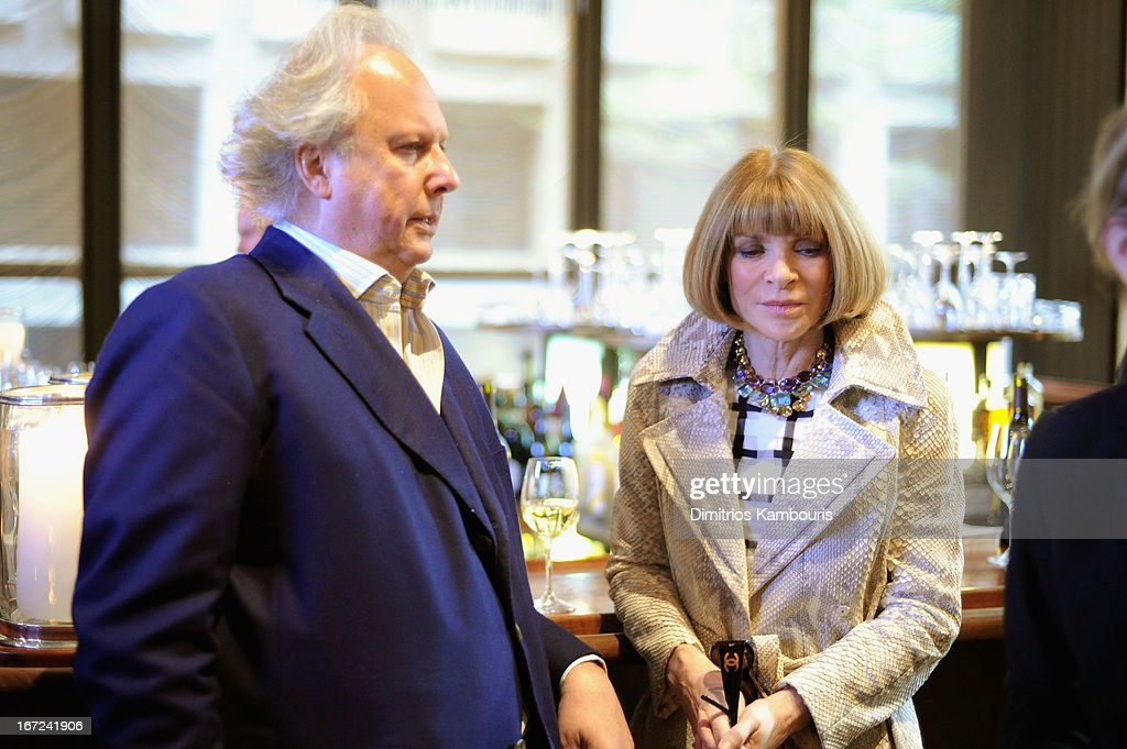 Graydon Carter and Anna Wintour attend the Conde Nast Celebrates Editorial Excellence: Toast To Editors, Writers And Contributors on April 22, 2013 in New York City.