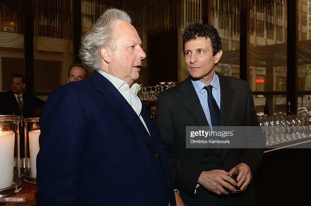 Graydon Carter and David Remnick attend the Conde Nast Celebrates Editorial Excellence: Toast To Editors, Writers And Contributors on April 22, 2013 in New York City.