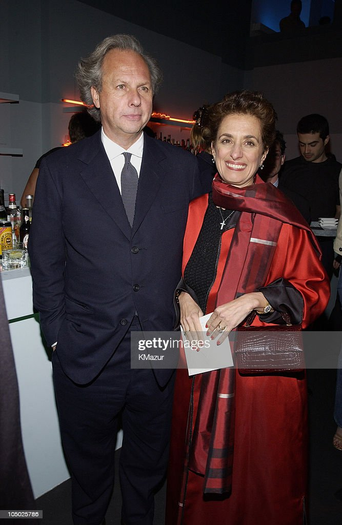 Graydon Carter and Rose Marie Bravo during Burberry's Flagship Store Opening Party Hosted by Vanity Fair at Burberry's Flagship Store in New York, New York, United States.
