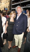 Graydon Carter andf Guest during 'Martin Short Fame Becomes Me' Broadway Opening Night Arrivals at Bernard B Jacobs Theatre in New York New York...