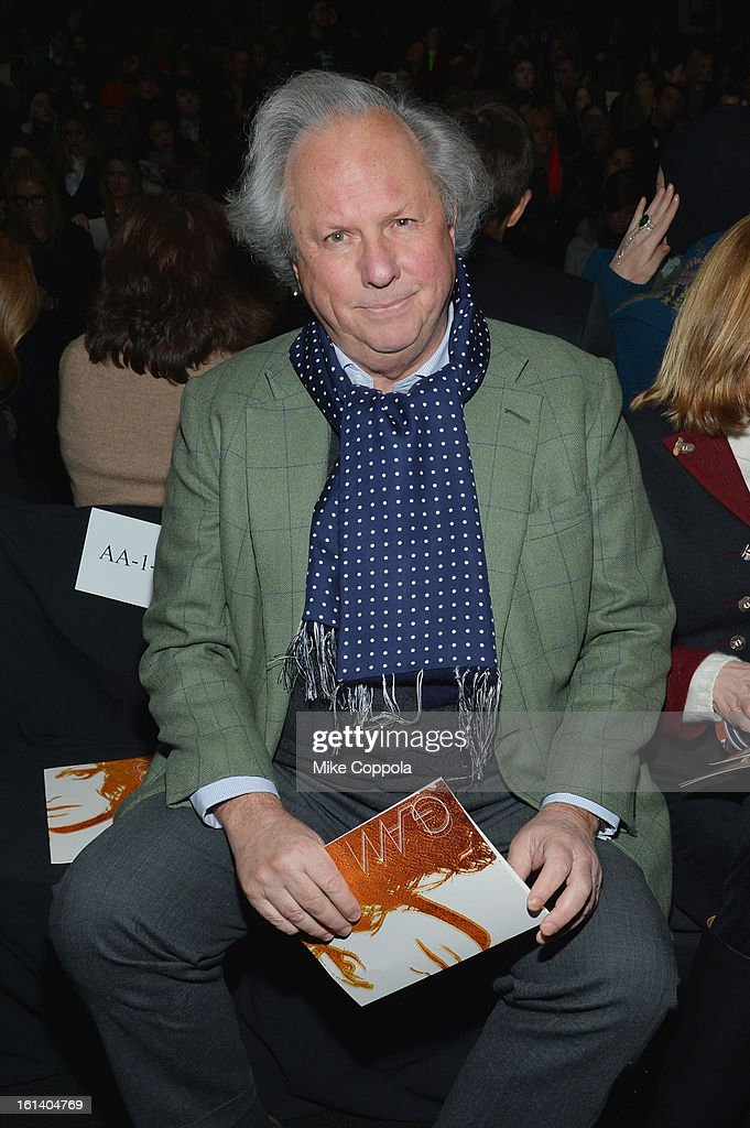 <a gi-track='captionPersonalityLinkClicked' href=/galleries/search?phrase=Graydon+Carter&family=editorial&specificpeople=605905 ng-click='$event.stopPropagation()'>Graydon Carter</a> attends the Diane Von Furstenberg Fall 2013 fashion show during Mercedes-Benz Fashion at The Theatre at Lincoln Center on February 10, 2013 in New York City.