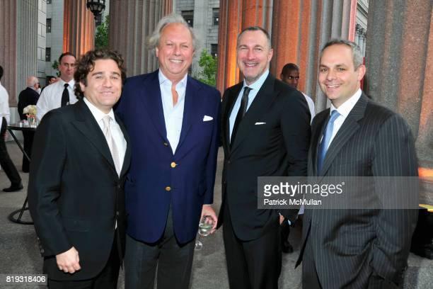 Graydon Carter Edward Menicheschi and Jason Wachenheimer attend VANITY FAIR TRIBECA FILM FESTIVAL Opening Night Dinner Hosted by ROBERT DE NIRO...