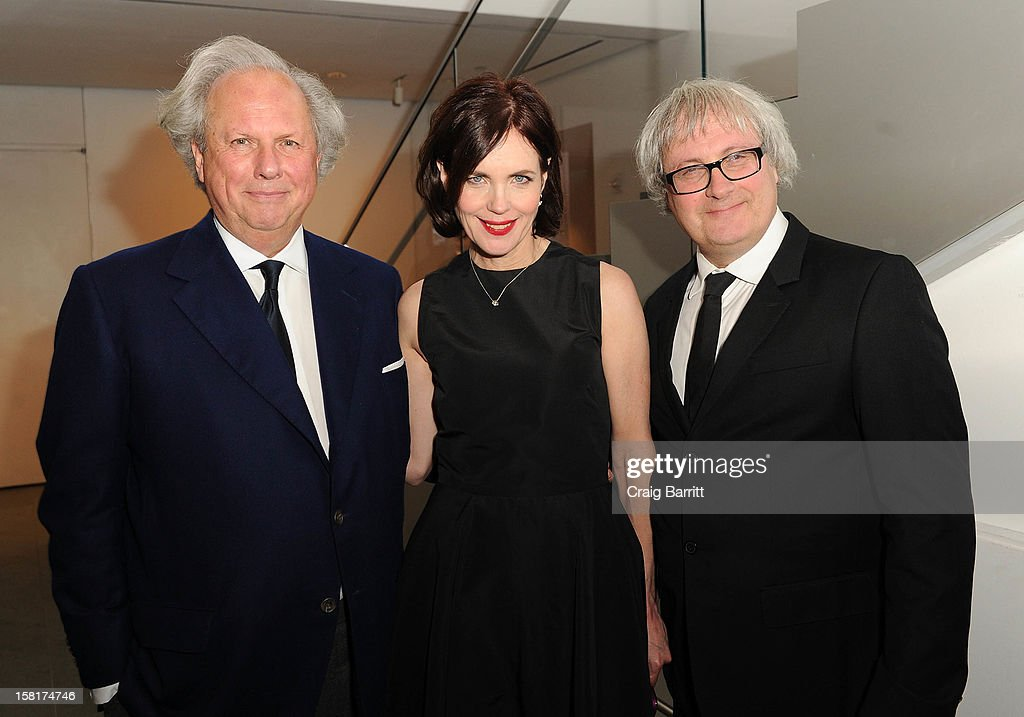 Graydon Carter, Elizabeth McGovern and Simon Curtis attend an evening with the cast and producers of PBS Masterpiece series 'Downton Abbey' hosted by Ralph Lauren & Graydon Carter on December 10, 2012 in New York City.