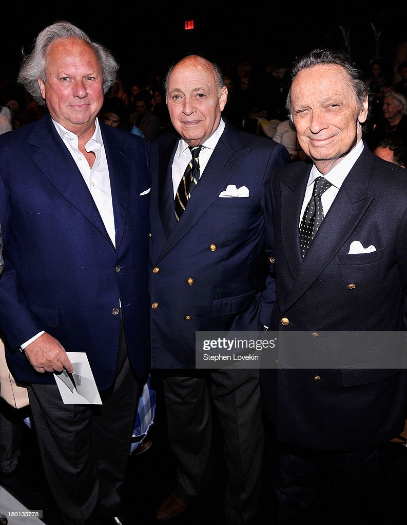 <a gi-track='captionPersonalityLinkClicked' href=/galleries/search?phrase=Graydon+Carter&family=editorial&specificpeople=605905 ng-click='$event.stopPropagation()'>Graydon Carter</a>, Reinaldo Herrera and Oscar Molinari attend the Carolina Herrera fashion show during Mercedes-Benz Fashion Week Spring 2014 at The Theatre at Lincoln Center on September 9, 2013 in New York City.