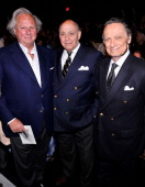 Graydon Carter Reinaldo Herrera and Oscar Molinari attend the Carolina Herrera fashion show during MercedesBenz Fashion Week Spring 2014 at The...