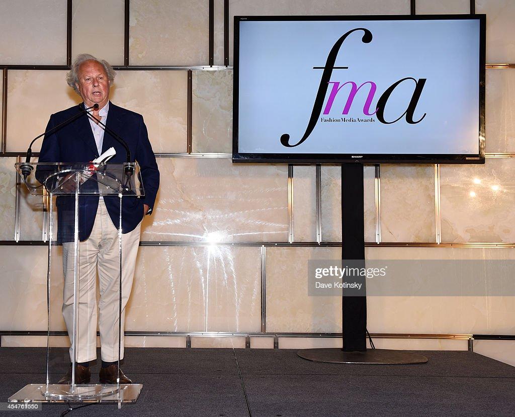 Graydon Carter speaks at The Daily Front Row Second Annual Fashion Media Awards at Park Hyatt New York on September 5 2014 in New York City