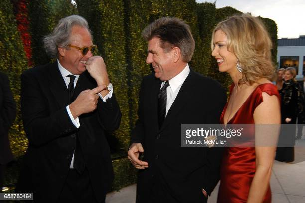 Graydon Carter Tom Freston and Kathy Freston attend the 2004 Vanity Fair Oscar Party at Mortons on February 29 2004 in Beverly Hills California
