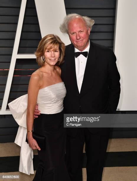 Graydon Carter with Anna Scott at Wallis Annenberg Center for the Performing Arts on February 26 2017 in Beverly Hills California