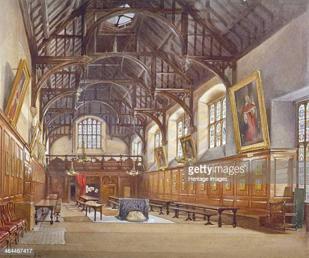 Gray's Inn Hall London 1886 Interior view from the high table