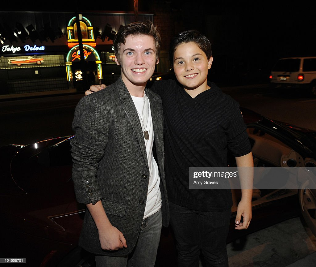 Grayson Goss and Zach Callison (R) attend the 'Rock Jocks' Screening to Celebrate Zach Callison's 15th Birthday on October 23, 2012 in Hollywood, California.