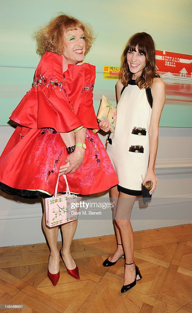 Grayson Perry (L) and Alexa Chung attend the Royal Academy of Arts Summer Exhibition Preview Party at Royal Academy of Arts on May 30, 2012 in London, England.