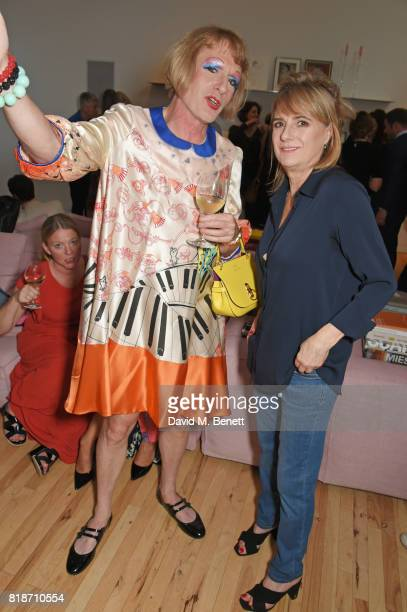 Grayson Perry and Amanda Levete attend the Mayor of London's Summer Culture Reception on July 18 2017 in London England