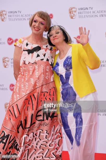 Grayson Perry and Philippa Perry attends the Virgin TV BAFTA Television Awards at The Royal Festival Hall on May 14 2017 in London England