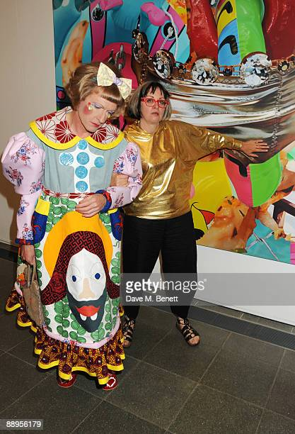 Grayson Perry and wife Philippa Fairclough attend the Serpentine Gallery Summer Party at The Serpentine Gallery on July 9 2009 in London England