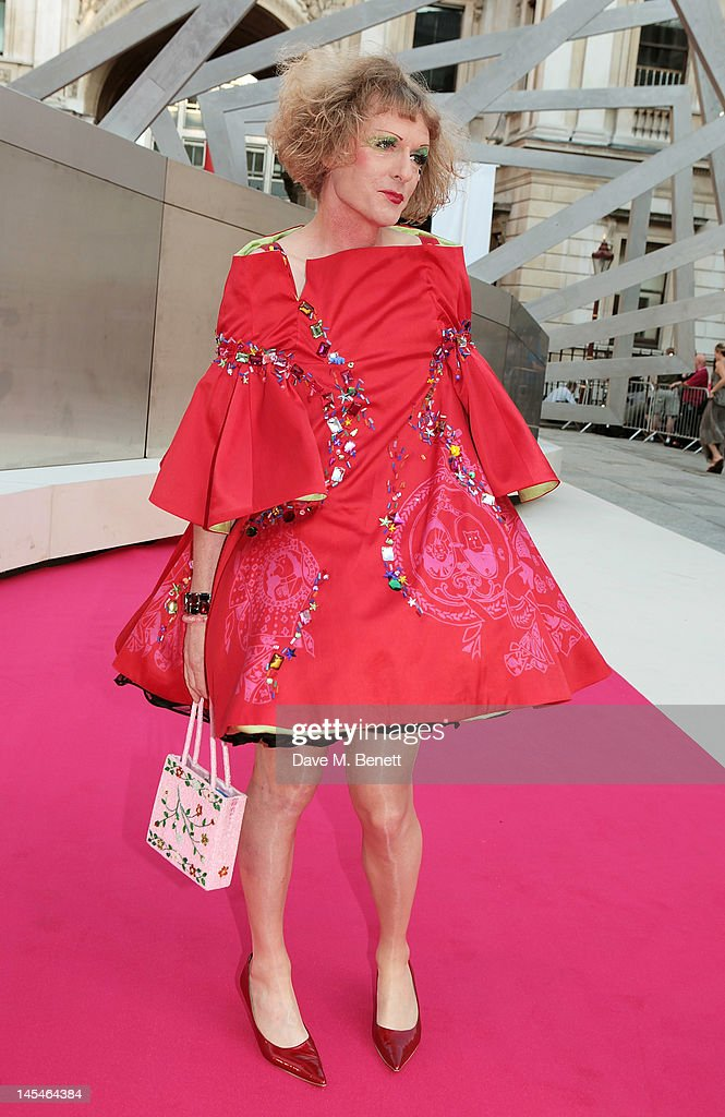 <a gi-track='captionPersonalityLinkClicked' href=/galleries/search?phrase=Grayson+Perry&family=editorial&specificpeople=208176 ng-click='$event.stopPropagation()'>Grayson Perry</a> arrives at the Royal Academy of Arts Summer Exhibition Preview Party at Royal Academy of Arts on May 30, 2012 in London, England.