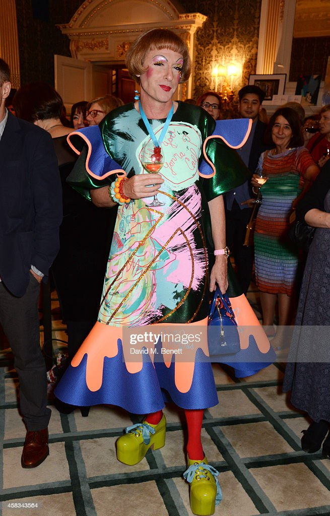 Grayson Perry attends a fundraising event for The Eve Appeal at Claridge's Hotel on November 3 2014 in London England