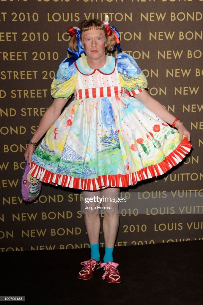 Grayson Perry attends the after party for the launch of the Louis Vuitton Bond Street Maison on May 25 2010 in London England
