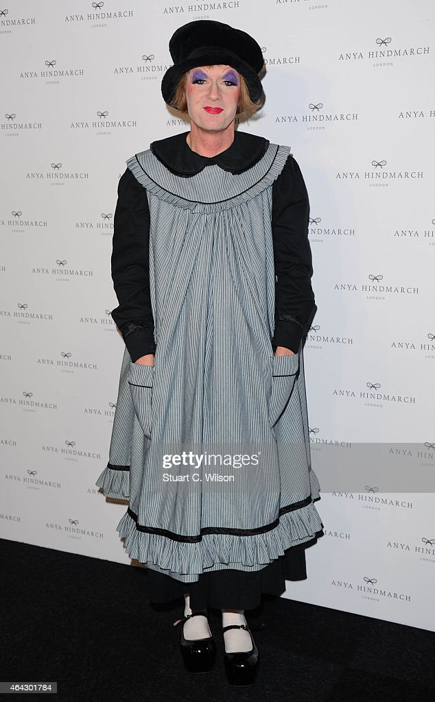 Grayson Perry attends the Anya Hindmarch show during London Fashion Week Fall/Winter 2015/16 at on February 24, 2015 in London, England.