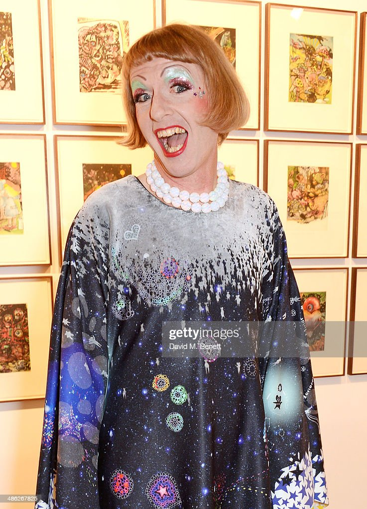 Grayson Perry attends the London Original Print Fair 2014 opening reception at the Royal Academy of Arts on April 23 2014 in London England