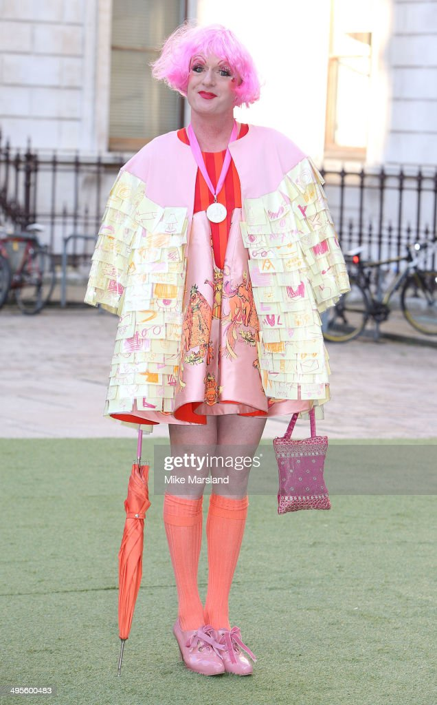 <a gi-track='captionPersonalityLinkClicked' href=/galleries/search?phrase=Grayson+Perry&family=editorial&specificpeople=208176 ng-click='$event.stopPropagation()'>Grayson Perry</a> attends the Royal Academy Summer Exhibition Preview Party at Royal Academy of Arts on June 4, 2014 in London, England.