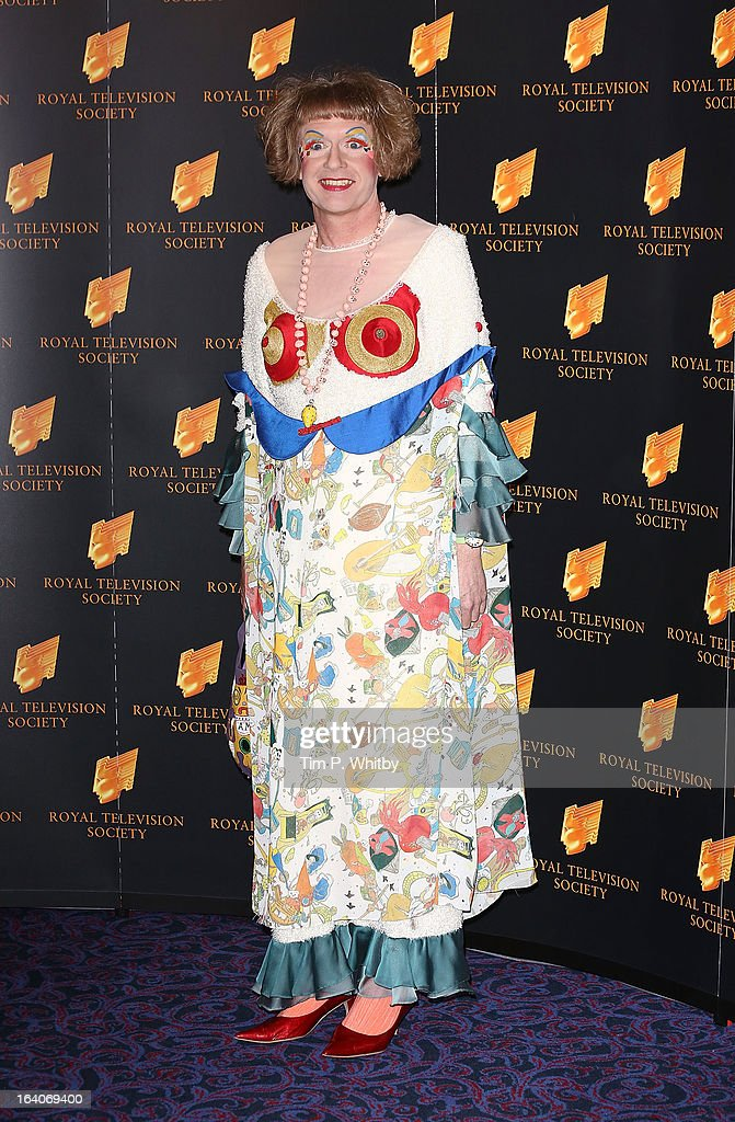Grayson Perry attends the RTS Programme Awards at Grosvenor House, on March 19, 2013 in London, England.