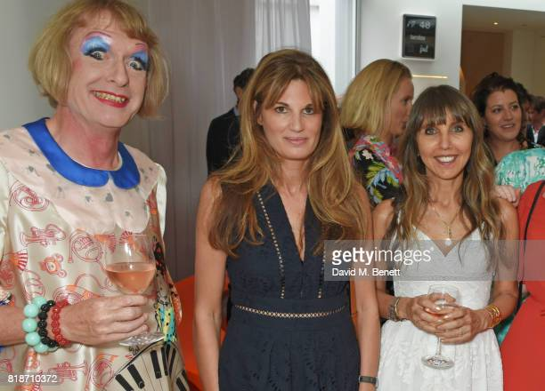 Grayson Perry Jemima Khan and Henrietta Conrad attend the Mayor of London's Summer Culture Reception on July 18 2017 in London England