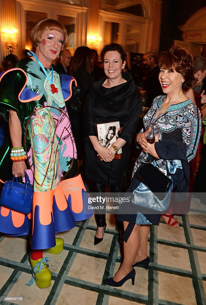 Grayson Perry Olivia Colman and Kathy Lette attend a fundraising event for The Eve Appeal at Claridge's Hotel on November 3 2014 in London England