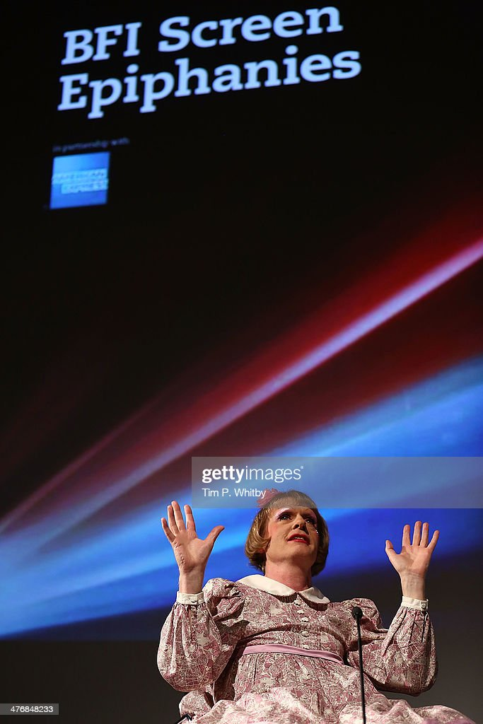 Grayson Perry on stage to introduce his BFI Screen Epiphany choice of 'Koyaanisqatsi' at National Film Theatre on March 5 2014 in London England