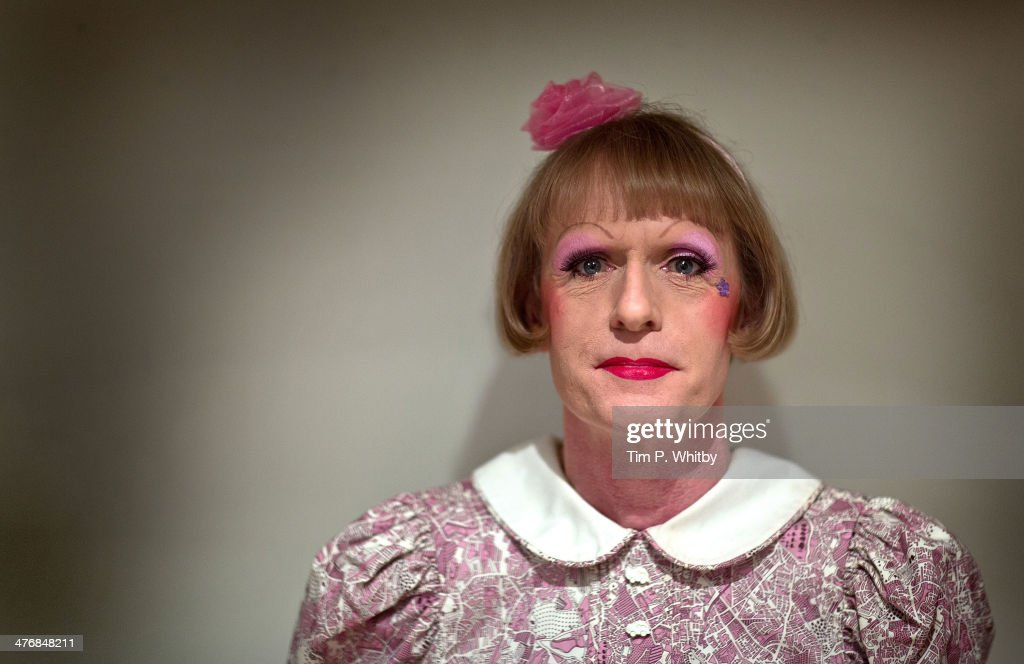 Grayson Perry poses for portraits in the green room ahead of introducing his BFI Screen Epiphany choice of 'Koyaanisqatsi' at National Film Theatre...