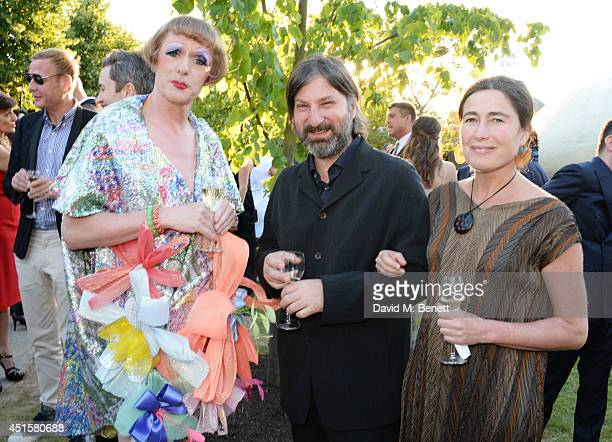 Grayson Perry Smiljan Radic and Marcela Correa attend The Serpentine Gallery Summer Party cohosted by Brioni at The Serpentine Gallery on July 1 2014...