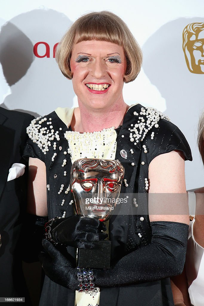 Grayson Perry with his Best Factual award during the Arqiva British Academy Television Awards 2013 at the Royal Festival Hall on May 12, 2013 in London, England.