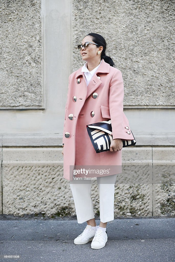 Grazia Thailand Editor in chief Pimonrachada Indrapana poses wearing an Emilio Pucci coat and bag Greyhound pants and Adidas shoes on February 26...
