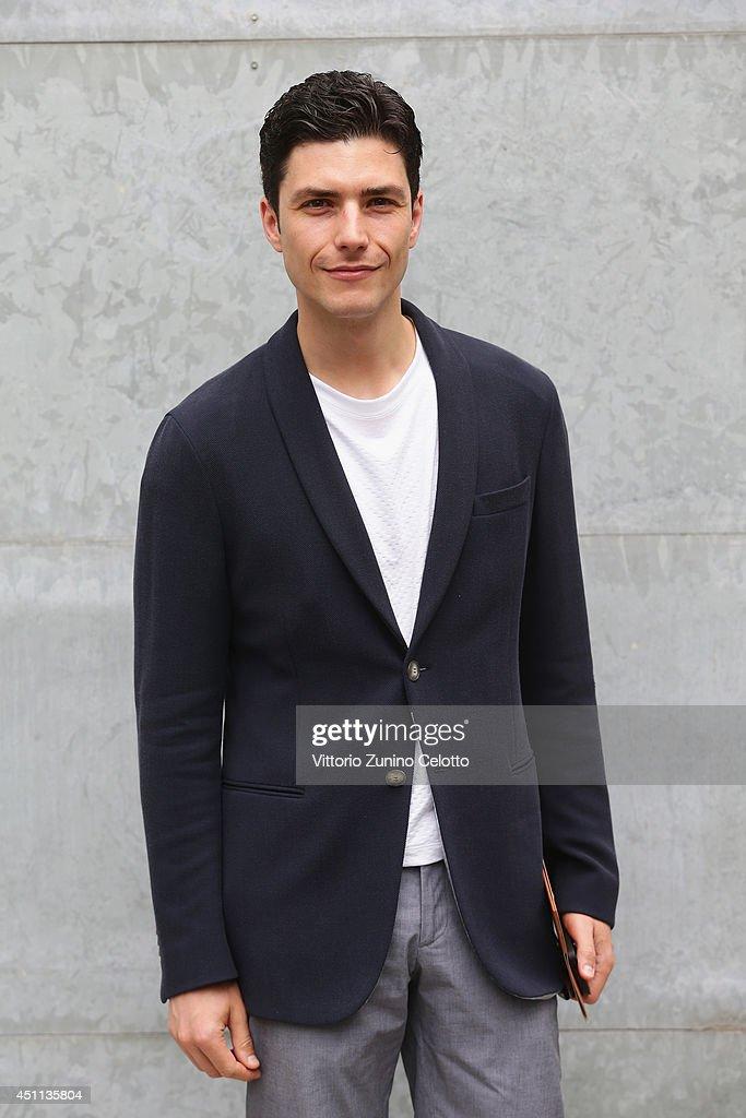 Graziano Della Nebbia attends Giorgio Armani show during Milan Menswear Fashion Week Spring Summer 2015 on June 24, 2014 in Milan, Italy.