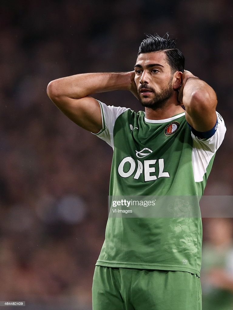 Graziano Pelle of Feyenoord during the Dutch cup match between Ajax Amsterdam and Feyenoord at Amsterdam Arena on January 22 2014 in Amsterdam The...