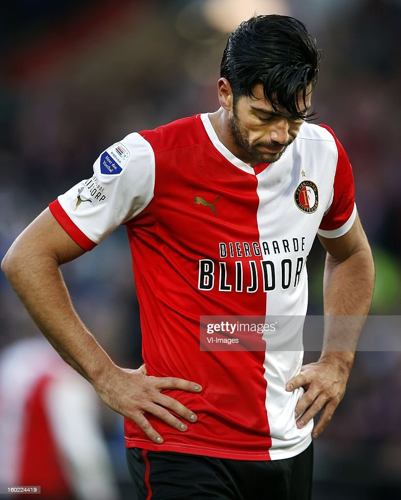 Graziano Pelle of Feyenoord during the Dutch Eredivise match between Feyenoord and FC Twente at stadium De Kuip on January 27, 2013 in Rotterdam, The Netherlands.