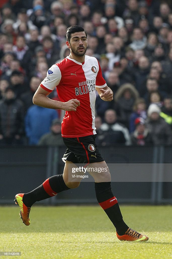 Graziano Pelle of Feyenoord during the Dutch Eredivisie match between Feyenoord and AZ Alkmaar at stadium De Kuip on february 10, 2013 in Rotterdam, The Netherlands